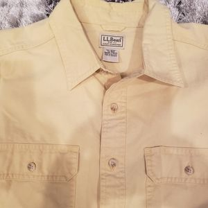 LL Bean Sunwashed Canvas Long Sleeve Button Down S